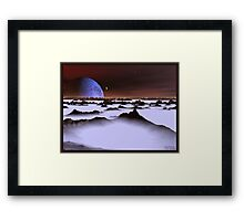 Ice Plain 3 Framed Print