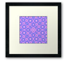 blue and purple Abstract Pattern Framed Print