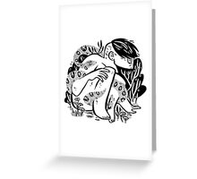 Snakes in the bush Greeting Card