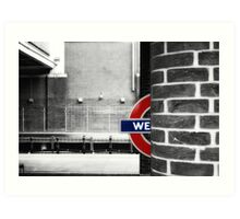 West Ham Tube Station Art Print