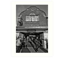 West Hampstead Tube Station Art Print