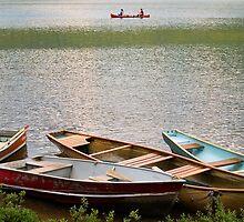 Canoeing on the Maligne Lake , Jasper National Park , Canada by alopezc72