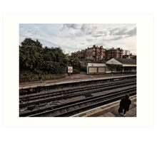 West Kensington Tube Station Art Print