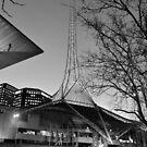 Melbourne Arts Centre at Dusk by mackasenior
