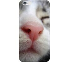 Cute kitten asleep with a pink nose iPhone Case/Skin