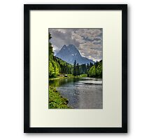 Lake Riessersee and Mount Alpspitz. Germany. Framed Print