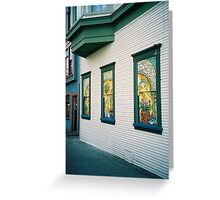 Victoria. Painted Windows. British Columbia, Canada 2006 Greeting Card