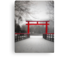 The Red Bridge Canvas Print