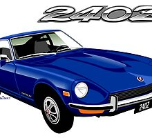 Datsun 240Z blue by car2oonz