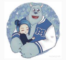 Demi Lovato hugging Sully Kids Tee
