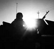 M240 Gunner Silhouette by Benjamin Sloma