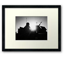 M240 Gunner Silhouette Framed Print