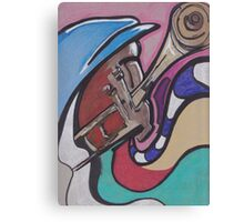 Sounds of a Trumpeter Canvas Print