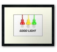 Good Light Framed Print