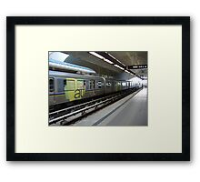 Urban train Framed Print
