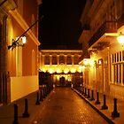 Fortaleza street at night by Elias Santiago