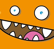 Happy Monster - Orange by Alfons Freire