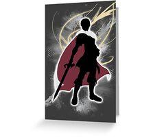 Super Smash Bros. White Marth Silhouette Greeting Card