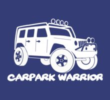 'Carpark Warrior' Jeep Wrangler Tee T Shirt for 4x4 Rubicon Trail Enthusiasts by TheStickerLab