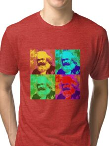 Karl Marx Pop Art Tri-blend T-Shirt