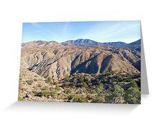 Santa Rosa Mountains Greeting Card