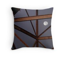 Graphic Moon Throw Pillow
