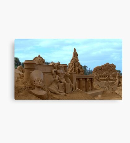 Sand Sculpture Frankston Canvas Print