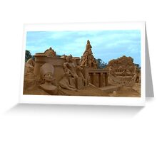 Sand Sculpture Frankston Greeting Card