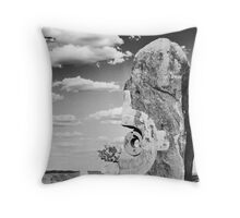 Desert Sculpture Throw Pillow