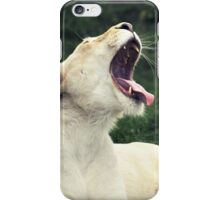 Lion yawn iPhone Case/Skin