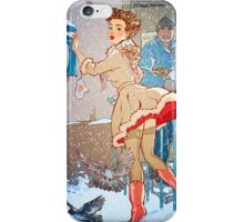Pin-Up Post Girl iPhone Case/Skin