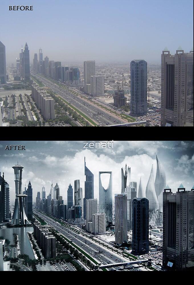 dubai progress before and after by zenati