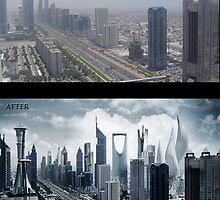 dubai progress before and after by zenati