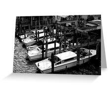 Venetian Taxi Greeting Card