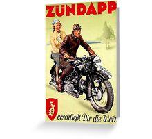 Zundapp Motorcycles Greeting Card
