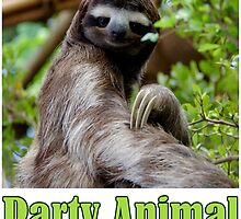 Party Animal - The Sloth by Chunga