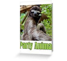 Party Animal - The Sloth Greeting Card