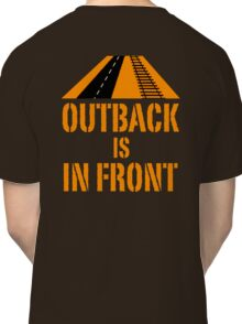 Outback In Front - Road & Rail, Funny Classic T-Shirt
