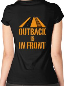 Outback In Front - Road & Rail, Funny Women's Fitted Scoop T-Shirt
