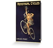Vintage Bicycle Poster Parody - Menstrual Cycles Greeting Card