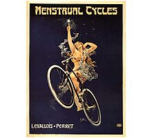 Vintage Bicycle Poster Parody - Menstrual Cycles Photographic Print