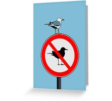 Seagull No Seagulls Sign Greeting Card