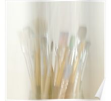 Abstract Paint Brushes Poster