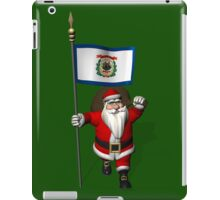 Santa Claus With Flag Of West Virginia iPad Case/Skin