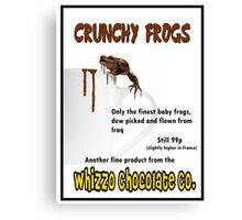 Crunchy Frogs - Whizzo Chocolate Co. Canvas Print