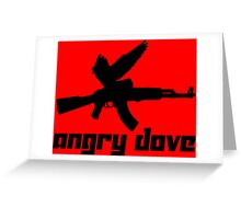 Angry Dove Greeting Card