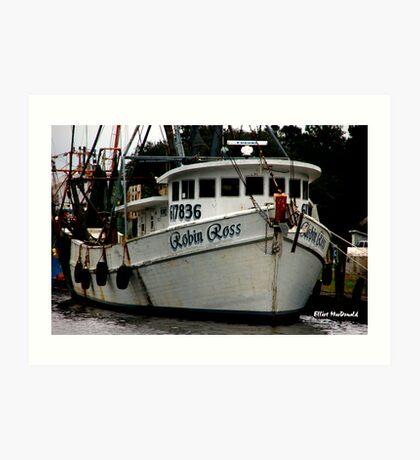 Robin Ross - shrimp boat Art Print