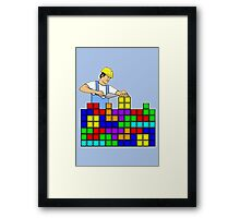 Brick Layer Framed Print
