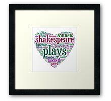 Shakespeare Word Art Framed Print