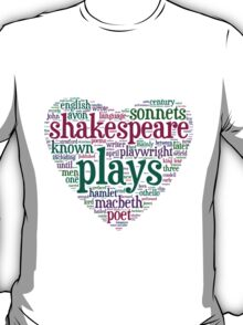 Shakespeare Word Art T-Shirt